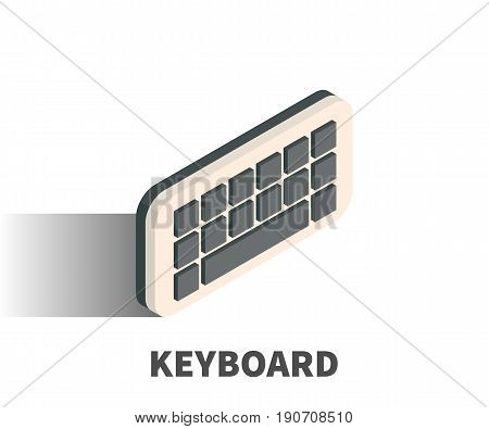 Keyboard icon vector symbol in isometric 3D style isolated on white background.