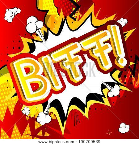 Biff! - Illustrated comic book style expression.