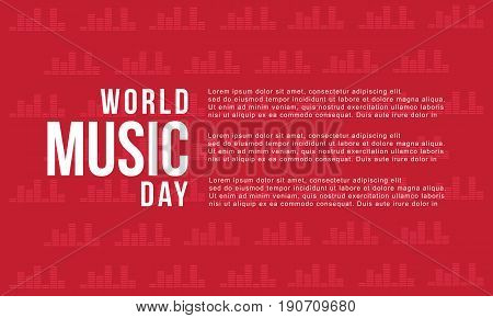 World music day background style vector art