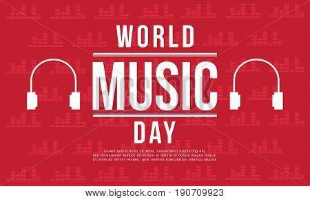 World music day banner style vector art