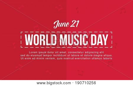 World music day background vector flat collection stock