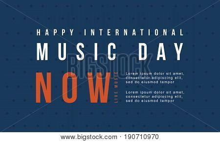 world music day banner vector flat illustration