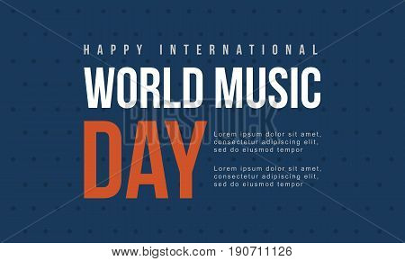 World music day background collection vector flat