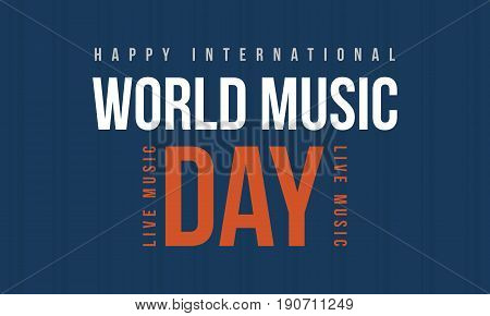 World music day style banner collection vector art