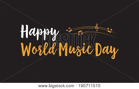 Background of world music day style vector art