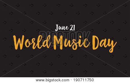 Banner of world music day celebration vector art