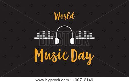 Banner of world music day vector flat collection