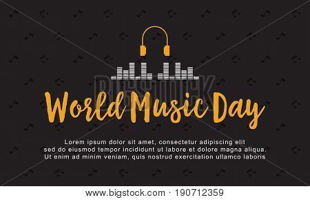 Background style world music day vector art