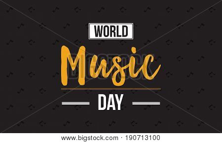 Collection world music day celebration style vector flat