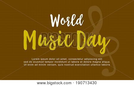 Vector flat of world music day collection background