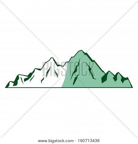 mountain peak alpine nature tourism vector illustration