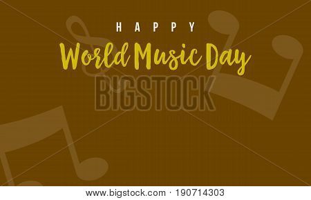 Vector illustration world music day background collection stock