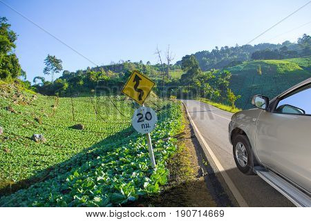 vegetable country travel on road and natural