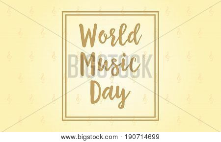 Illustration vector of world music day collection stock