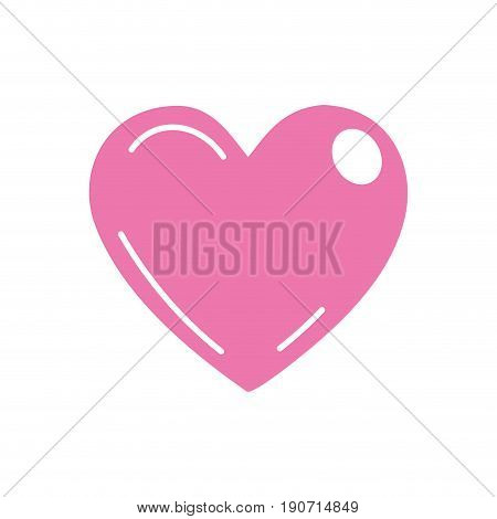 beutiful pink heart related with romantic and love vector illustration