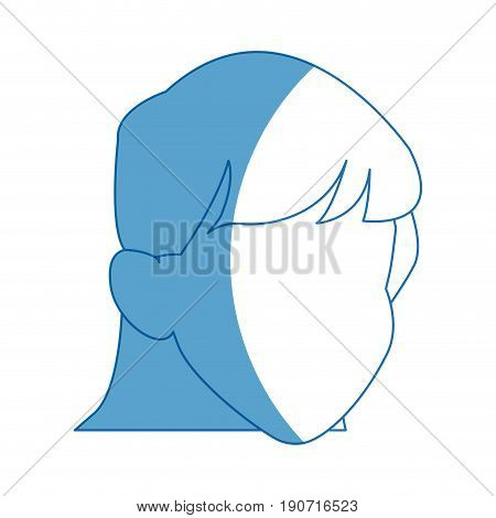 default girl avatar profile icon vector illustration