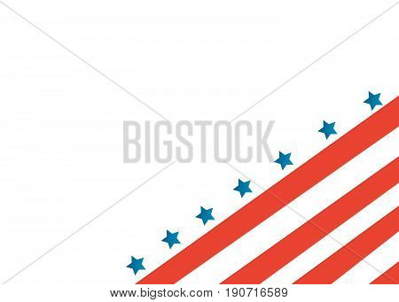 USA flag in style vector illustration on white