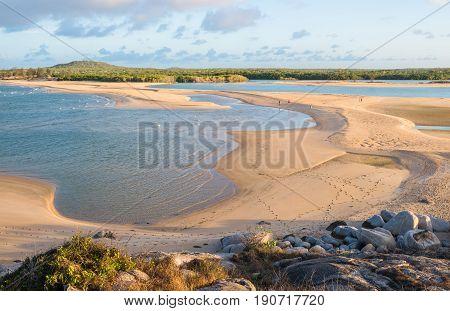 East Woody beach the famous beach of Nhulunbuy town in Arnhem land, Northern Territory, Australia.