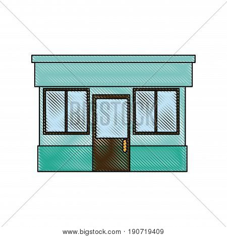 pharmacy drugstore building front view symbol vector illustration