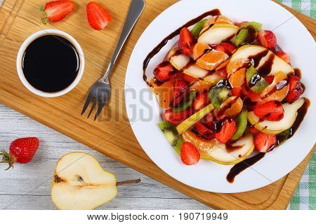 Strawberry, Kiwi Fruit, Pear, Mandarin Salad