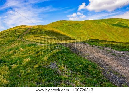 Footpath Through The Mountain Ridge