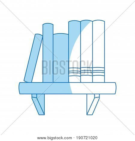 book shelf literature encyclopedia image vector illustration