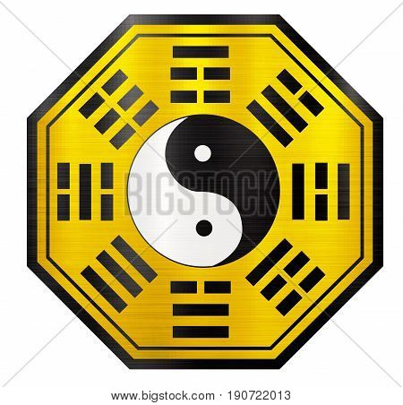 pa kua chinese instrument energy yellow  shui  feng