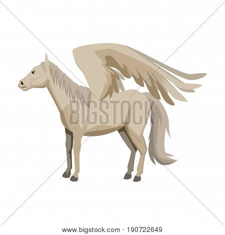 winged horse pegasus or flying mustang mascot vector illustration