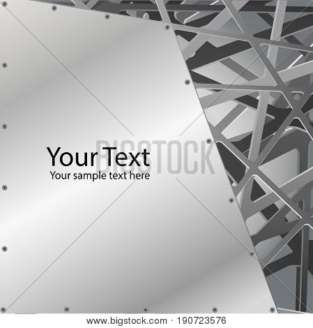 metallic grill with grate chrome edges Abstract  background style, vector illustration.