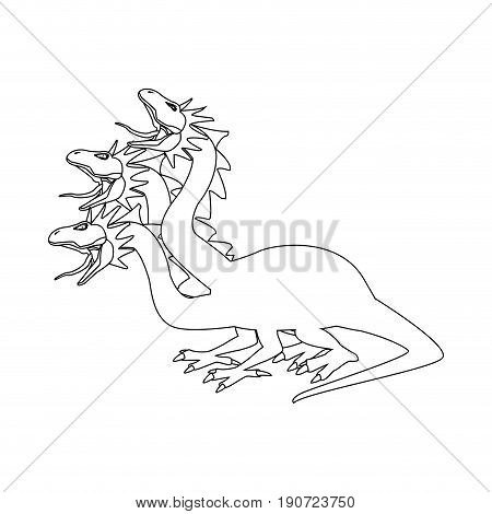 hydra mythological creature monster serpents vector illustration