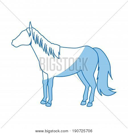 horse animal mammal nature equine icon vector illustration