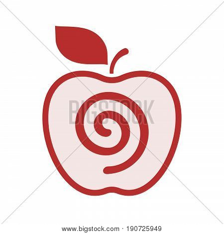Isolated Apple With  A Spiral