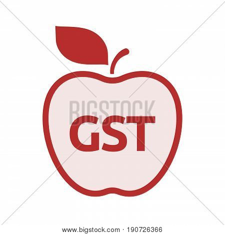 Isolated Apple With  The Goods And Service Tax Acronym Gst