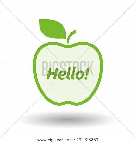 Isolated Apple With  The Text Hello!