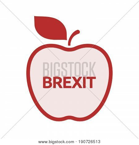 Isolated Apple With  The Text Brexit