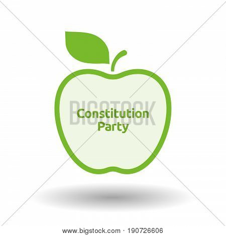 Isolated Apple With  The Text Constitution Party