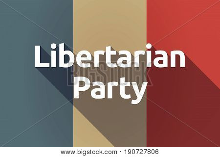 Long Shadow France Flag With  The Text Libertarian Party