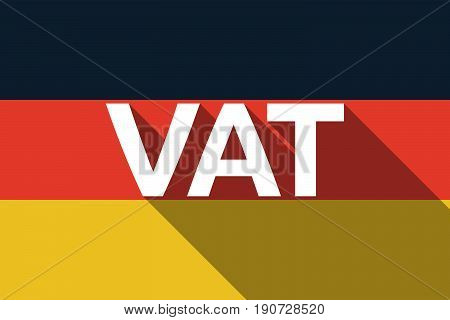 Long Shadow Germany Flag With  The Value Added Tax Acronym Vat