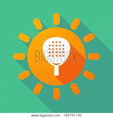 Long Shadow Sun With  A Paddle Racket