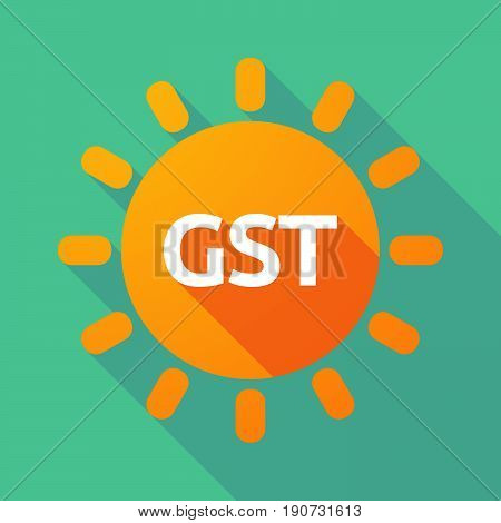 Long Shadow Sun With  The Goods And Service Tax Acronym Gst