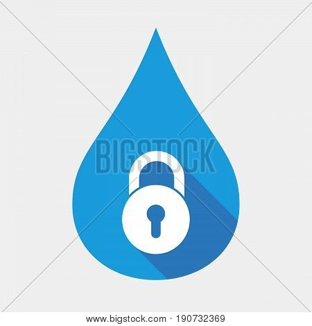 Isolated Water Drop With  A Closed Lock Pad