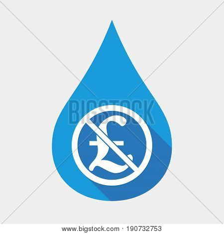 Isolated Water Drop With  A Pound Sign  In A Not Allowed Signal