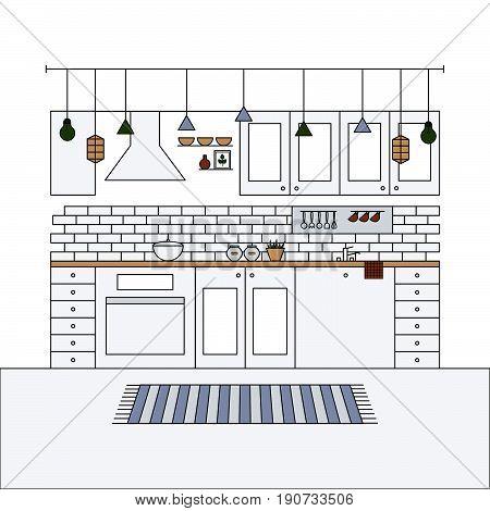 Contemporary Home Design. House Furniture.