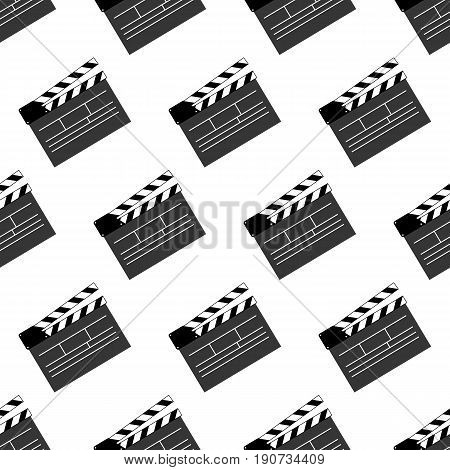 Movie clap pattern on the white background. Vector illustration