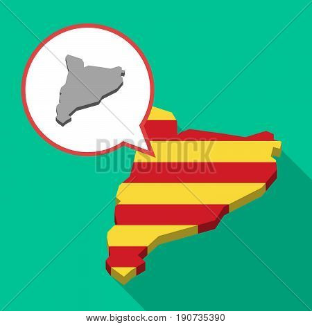 Long Shadow Catalonia Map With  The Map Of Catalonia