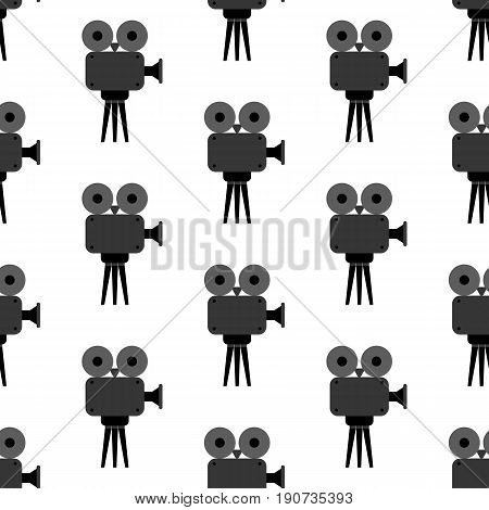 Video projector pattern on the white background. Vector illustration