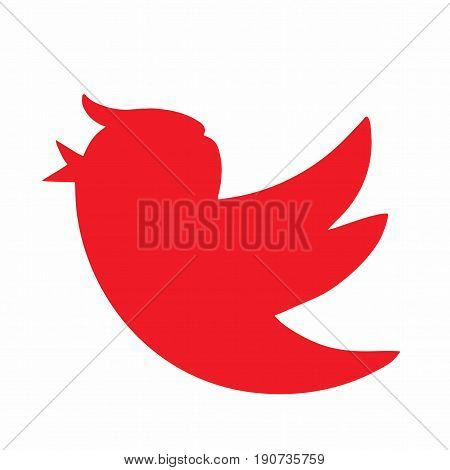 Donald Trump Social Media Bird Icon. Vector Illustration. June 10, 2017
