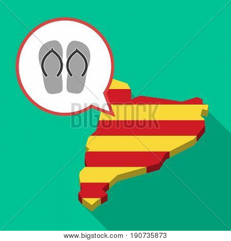 Long Shadow Catalonia Map With   A Pair Of Flops