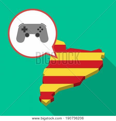 Long Shadow Catalonia Map With  A Game Pad