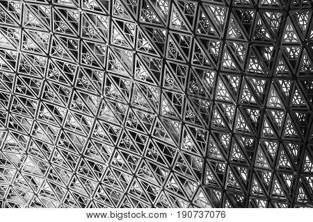 Structure aluminium facade detailing., Architectural facade design.